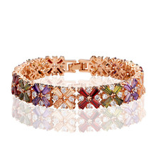Clourful Couds AAA+ Zircon Bracelet in Stock Factory Supply Aliexpress Hot Sale Gift Jewelry