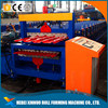 Roof tile roll forming machine galvanized and zinc making machine double layer