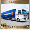 Hongtai brand 3 axle bulk powder tanker truck trailer used to transport with new design , truck trailer rear lights led