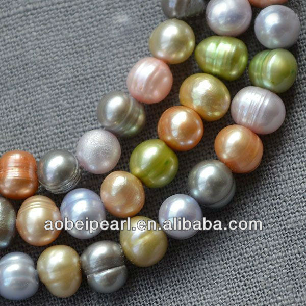8-9 MM Potato Multi Color Freshwater Mother Of Pearl Strand