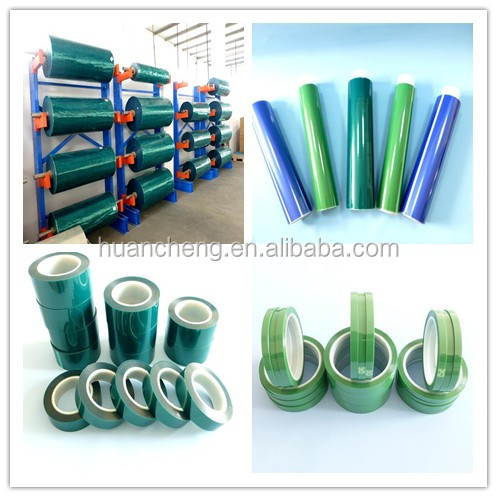 green powder coating polyester tape for high temperature masking(also have glass cloth tape)