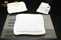 Wholesale 16 pcs/4 people white modern porcelain dinner set, cheap ceramic dinnerware