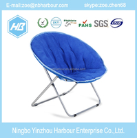 2015 high quality Living Room leisure Furniture Fabric folding Moon chair cushion