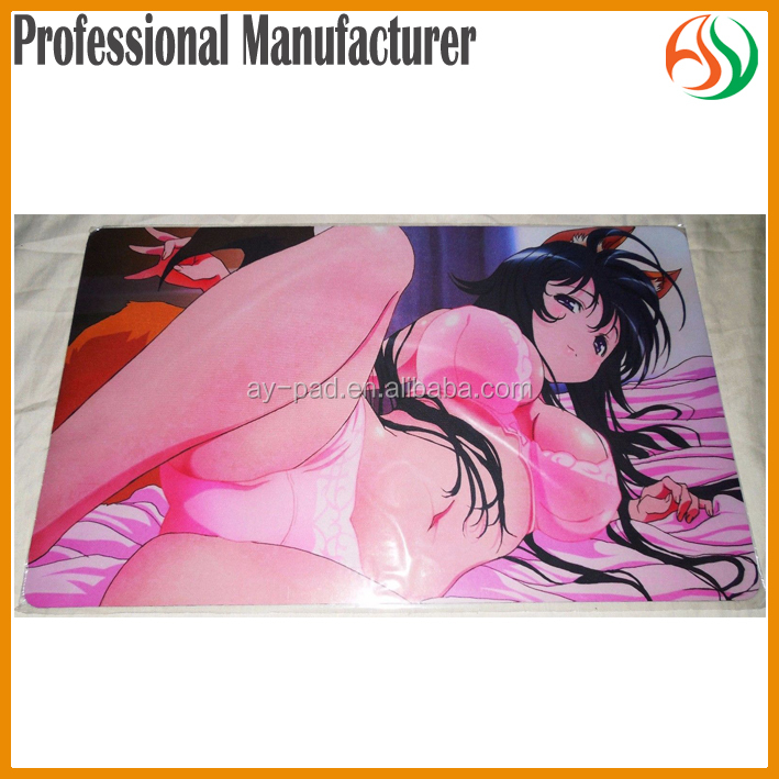 AY Pretty Sex Girl Breast Mouse Pad Heat Sublimation Japanese Anime Magic Card Game Playmat Printed LOGO mat
