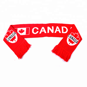 Canada National Flag Acrylic Jacquard Knitting Football Fans Scarf