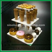 3 tier Display stands Acrylic for food