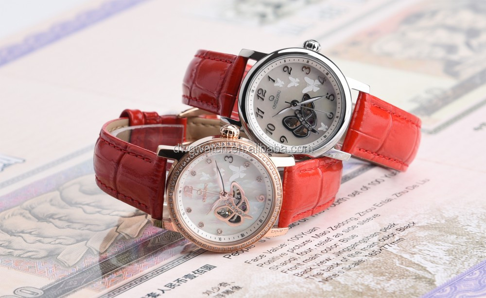 Trade assurance 2016 high quality genuine leather watch lady watch
