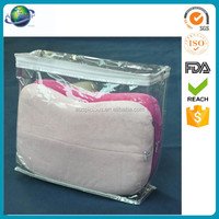 Zipper bedding packaging customized factory plastic clear pvc bag