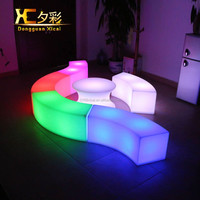RGB color changing led outdoor light cube illuminated led chair glowing seat