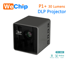 Support Phone connection smart dlp projector wireless connection wifi projector,mini projector, portable pocket projector P1+