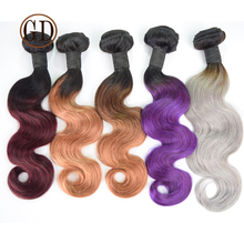 two tone ombre remy hair weaving wholesale virgin brazilian hair extension