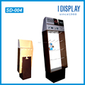 4color printing retail sidekick display stand with hooks for blister packing