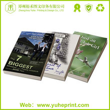 First-class quality made in China bulk white cardboard perfect binding soft rubber book cover