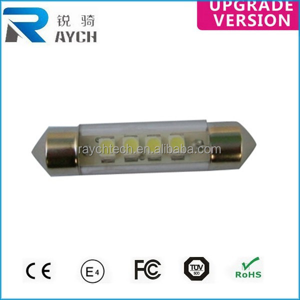 41mm 4 SMD LED 5050 Canbus Alarm Light Decode Lamp 12V Bulb Waterproof Hot