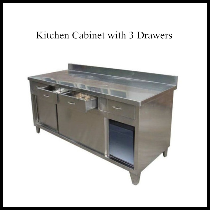 Commercial hotel kitchen supplies stainless steel counter