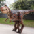 Walking the dinosaur costume with dinosaur t-rex