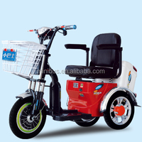 Handicapped 350W48V smart 3 wheel taxi electric mobility car with sunny roof