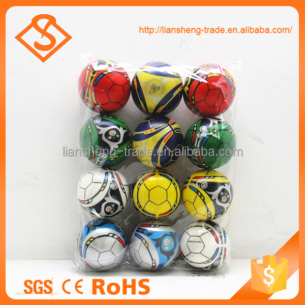 High quality 3 inch european cup printed safety sport toy custom stress balls