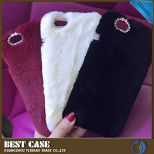 china suppliers rabbit fur back cover for samsung galaxy s2 cute case