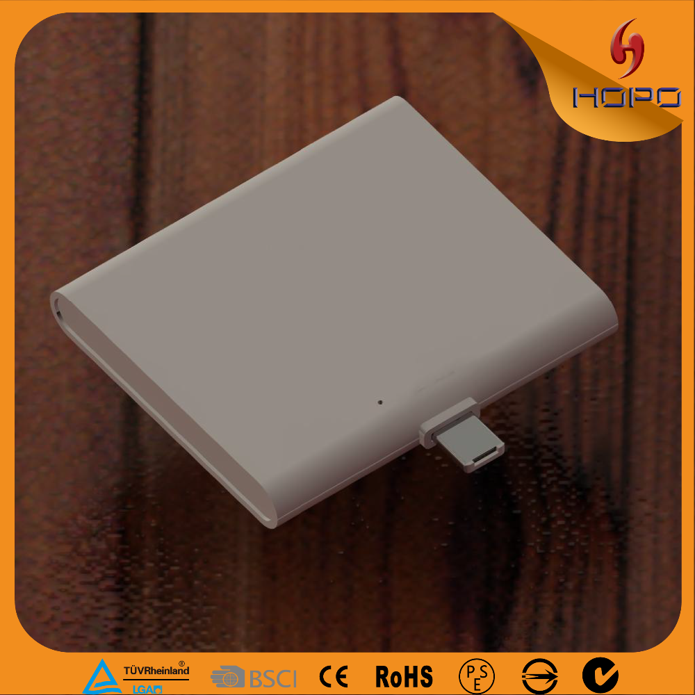Double connector Disposable Power Bank 2IN1 One Time Use 1000mah both for ios and android hot products
