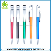 New style promotional mobile phone holder ball pen with screen cleaner