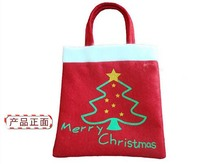 Delicate 2016 Merry Christmas Tree Decoration Santa Claus Kids Candy Bag Home Party Decor Gift To Children