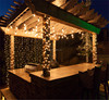 Outdoor Patio Christmas hanging decoration Icicle string Lights/contemporary-outdoor-lighting pavilion fairy string light