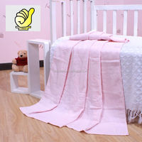 New 2014 Baby Products100% cotton Baby Kids Blanket Swaddle Bath towel with lovely bear, Jacquard and velour terry--Pink color
