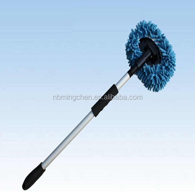 Extended chenille cleaning car mop with Extended Reach Handle
