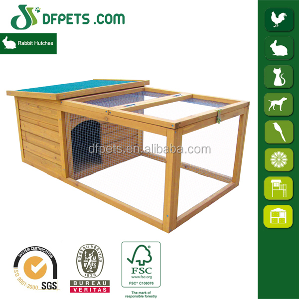 DFPETS DFR015 Outdoor Garden Wooden Rabbit Cage