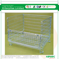 Folding Pallet Cages for stacking Hypacage