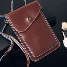 new Fashion luxury strap leather case for samsung galaxy s4 , mobile phone shoulder bag