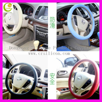 Top quality attractive fashion fit silicone car steering wheel cover for girl