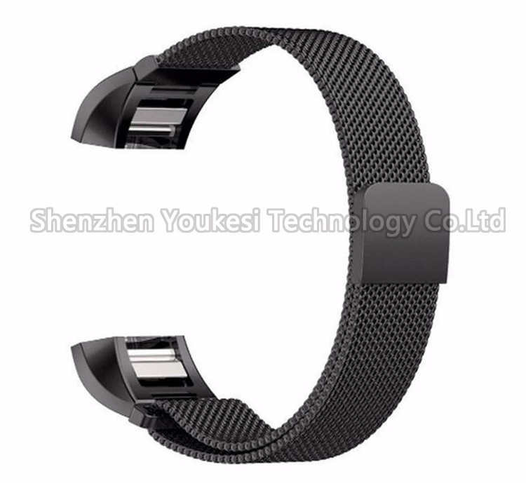 Magnetic Clasp Mesh Loop stainless steel bracelet watch band for fitbit charge 2
