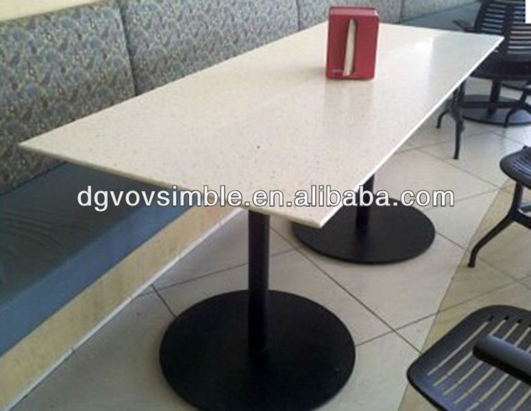 Custom size Acrylic Artificial Marble Dinning Table for restaurant