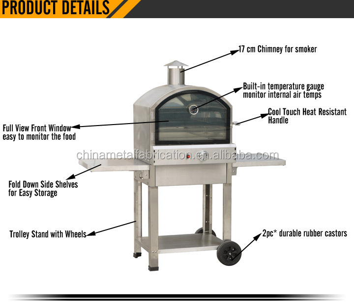 Gas Bakery Oven with Fold Down Side Shelves