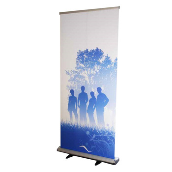 Trade show Aluminum Retractable roll up banner stand, pull up banner stand