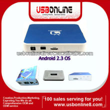 Android 2.3 1080p HDMI Media Player wifi internet tv box(blue)
