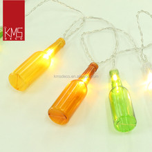 2017 creative beer bottle fairy lights bar decoration for festival holiday