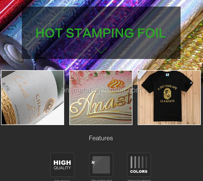 Rose Gold Food Package Hot Stamping Aluminum Foil