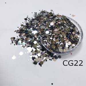 Black glitter mix mirror, red, purple chunky mix glitter for Body Face Nail Arts