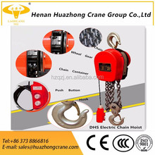 Material handling equipment lifting cranes DHS type electric chain hoist 1 ton