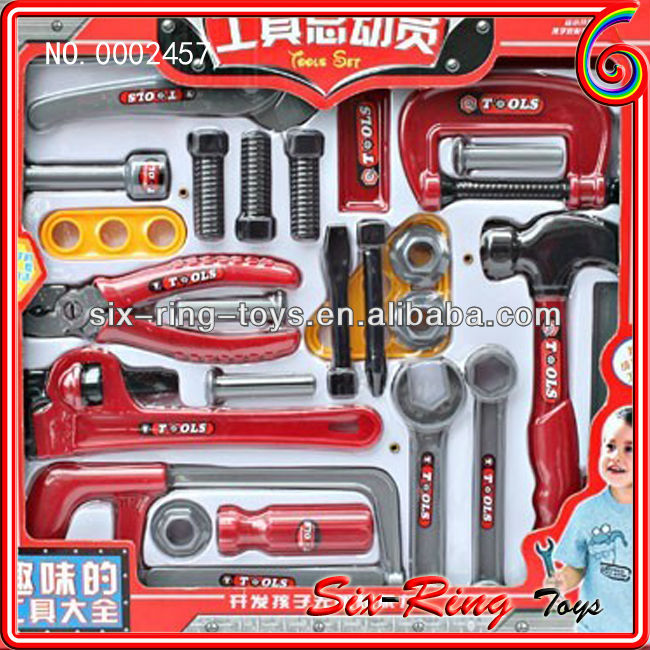 0002457 Newest toys for children playing tools plastic toy tool set