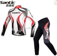 Santic brand wholesale long sleeve cycling clothing set in stock