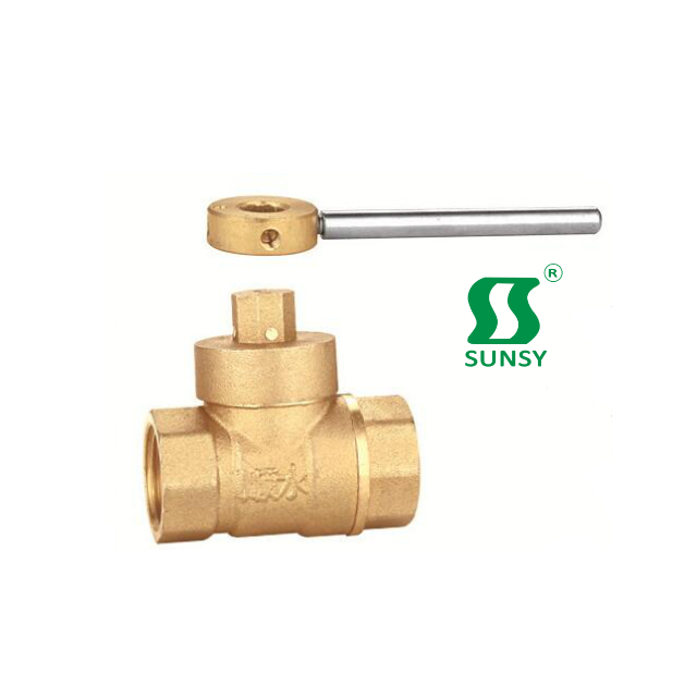 China Yuhuan shunshui sunsy factory BSPP BSPT NPT forged PPR Double union brass ball valve two-way type for water gas oil SS3010