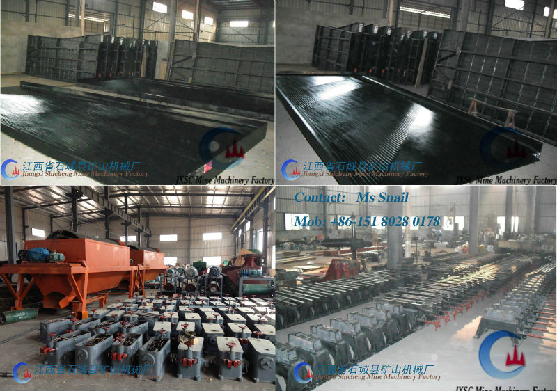 High Recovery Rate Mining Gold Process Shaking Table Machine Manufacture
