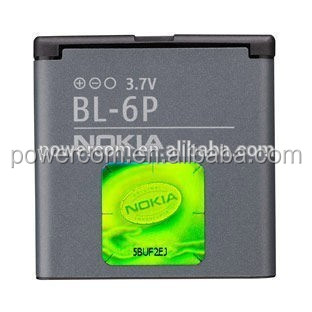 China factory price mobile phone battery BL-6P 3.7V 800mah for Nokia 7900/6500C