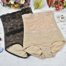 women girdle panty lace jacquard high cut shaper push up beauty panty