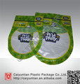 plastic zipper Bag with clear window special shape bag