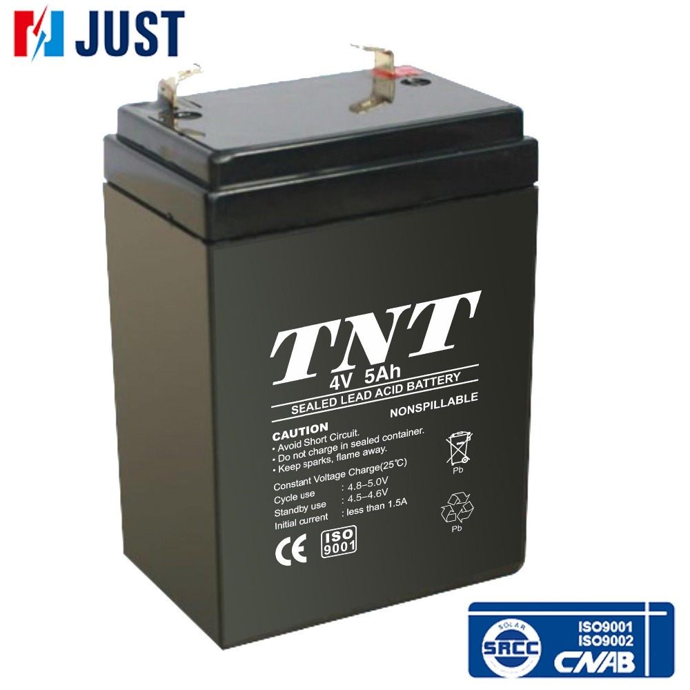 Maintenance free deep cycle 4 volt lead-acid battery